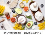 set of traditional spa products.... | Shutterstock . vector #1026923443
