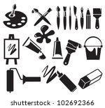 art icons set | Shutterstock .eps vector #102692366