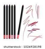 cosmetic make up eye liner set... | Shutterstock .eps vector #1026928198