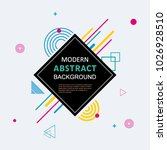 abstract with badge geometric... | Shutterstock .eps vector #1026928510