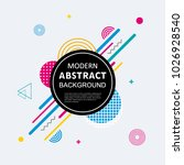 abstract with circle badge... | Shutterstock .eps vector #1026928540