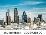 london cityscape during summer | Shutterstock . vector #1026928600