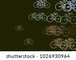 abstract outline of bicycle...   Shutterstock .eps vector #1026930964