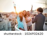 pictures on the terrace | Shutterstock . vector #1026932620