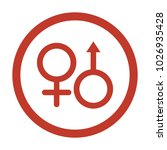 sex icon on white background.... | Shutterstock .eps vector #1026935428