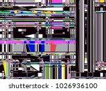 glitch background. computer... | Shutterstock . vector #1026936100