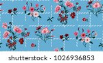 seamless floral pattern in... | Shutterstock .eps vector #1026936853