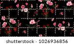 seamless floral pattern in... | Shutterstock .eps vector #1026936856