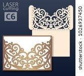 laser cut wedding invitation... | Shutterstock .eps vector #1026937450