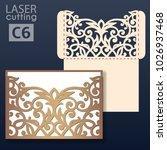 laser cut wedding invitation... | Shutterstock .eps vector #1026937468