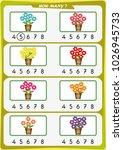 worksheet for preschool... | Shutterstock .eps vector #1026945733