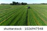 aerial photo farm scene tractor ...   Shutterstock . vector #1026947548