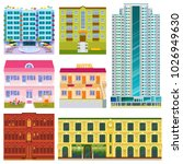 different buildings hotels... | Shutterstock .eps vector #1026949630