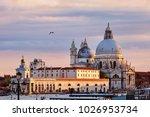 santa maria della salute... | Shutterstock . vector #1026953734
