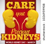 poster for world kidney day... | Shutterstock .eps vector #1026959908