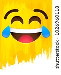 crying of laughter happy smiley ... | Shutterstock .eps vector #1026960118