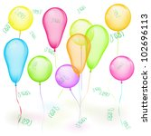 set of vector colored balloons... | Shutterstock .eps vector #102696113