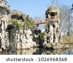 tourism place in france in park ... | Shutterstock . vector #1026968368
