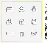 bags line icon set suitcase ... | Shutterstock .eps vector #1026968419