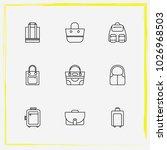 bags line icon set women bag ... | Shutterstock .eps vector #1026968503