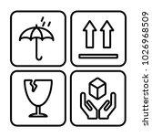 handling   packing icon set.... | Shutterstock .eps vector #1026968509