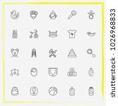 baby care line icon set baby... | Shutterstock .eps vector #1026968833