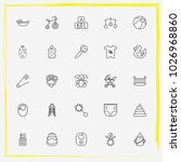 baby care line icon set toy... | Shutterstock .eps vector #1026968860