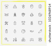 baby care line icon set baby's... | Shutterstock .eps vector #1026968914