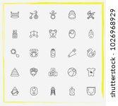 baby care line icon set bib ... | Shutterstock .eps vector #1026968929