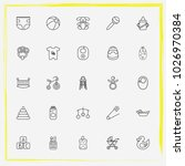 baby care line icon set diapers ... | Shutterstock .eps vector #1026970384