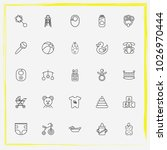 baby care line icon set rubber... | Shutterstock .eps vector #1026970444