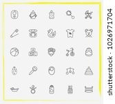 baby care line icon set rattle  ... | Shutterstock .eps vector #1026971704