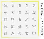 baby care line icon set crib ... | Shutterstock .eps vector #1026971764