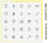 baby care line icon set buggy ... | Shutterstock .eps vector #1026971788