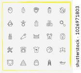 baby care line icon set rubber... | Shutterstock .eps vector #1026971803