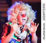 portrait of a clown in the... | Shutterstock . vector #1026972550