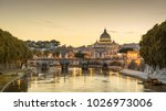 rome city at dusk  italy ... | Shutterstock . vector #1026973006