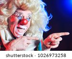 portrait of a clown in the... | Shutterstock . vector #1026973258
