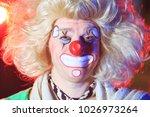 portrait of a clown in the... | Shutterstock . vector #1026973264