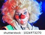 portrait of a clown in the... | Shutterstock . vector #1026973270