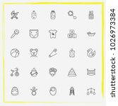 baby care line icon set... | Shutterstock .eps vector #1026973384