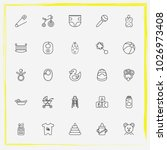 baby care line icon set crib ... | Shutterstock .eps vector #1026973408