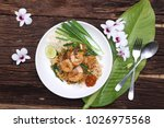 pad thai stir fried noodles... | Shutterstock . vector #1026975568