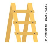 a small farming ladder for... | Shutterstock .eps vector #1026976669