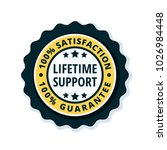 lifetime support guarantee... | Shutterstock .eps vector #1026984448
