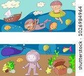 sea and ocean adventure... | Shutterstock .eps vector #1026984964