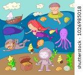 sea and ocean adventure... | Shutterstock .eps vector #1026985018