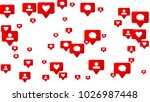 notifications with likes ... | Shutterstock .eps vector #1026987448