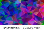 abstract low poly background of ... | Shutterstock .eps vector #1026987484
