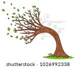 an image of a blowing wind... | Shutterstock .eps vector #1026992338